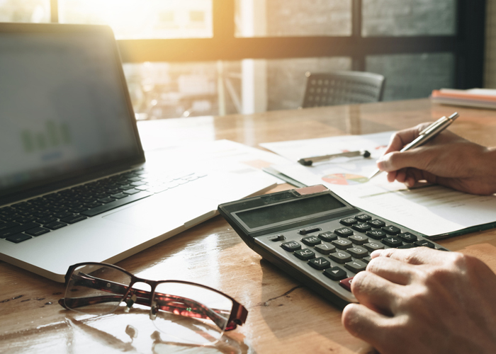 Calculator, computer and bookkeeping materials